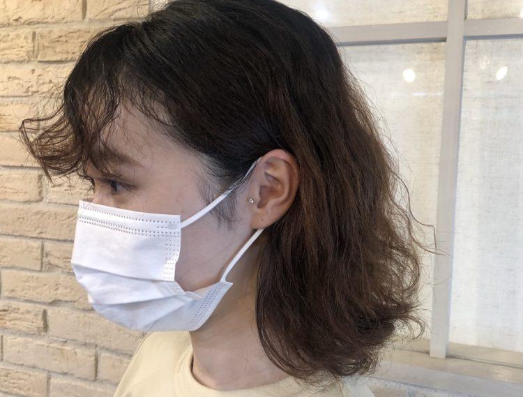 パーマ 前髪